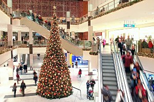 Christmas shopping mall