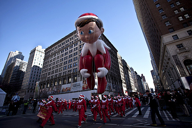 Elf on the Shelf float in parade